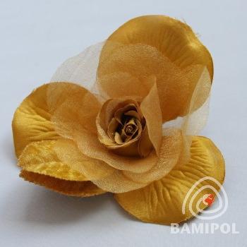 20.04 róża broszka na agrafce